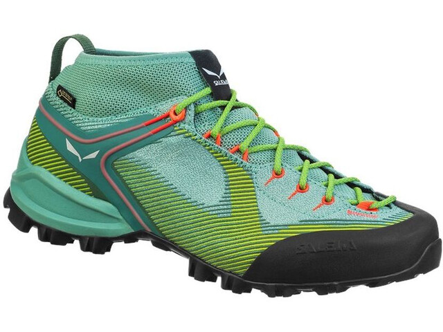 SALEWA Ws Alpenviolet GTX Zapatillas Mujer, feld green/fluo coral